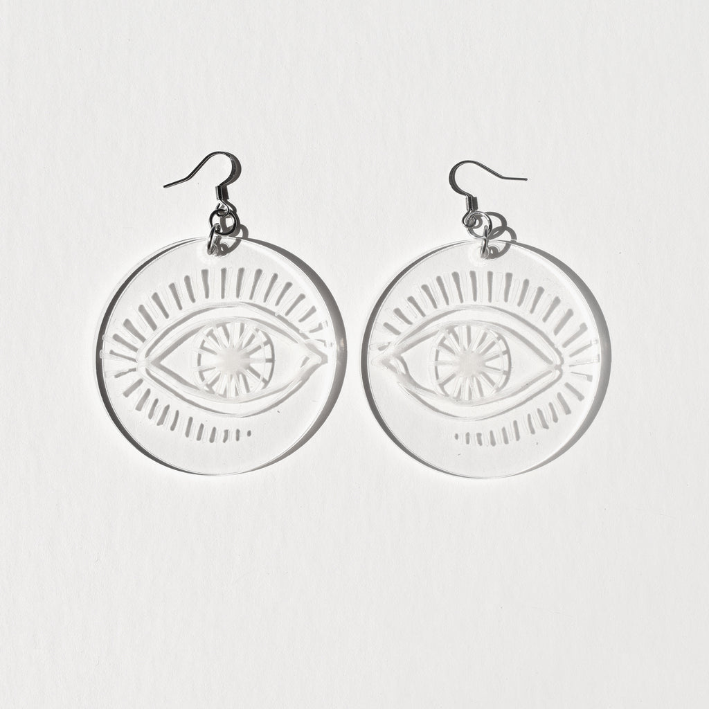 Mia Ohki Clear Eyes Earrings