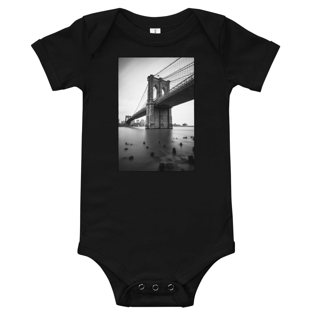 Brooklyn Bridge Baby Onesie in Black