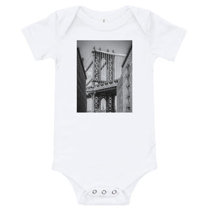 NYC Manhattan Bridge Baby Onesie