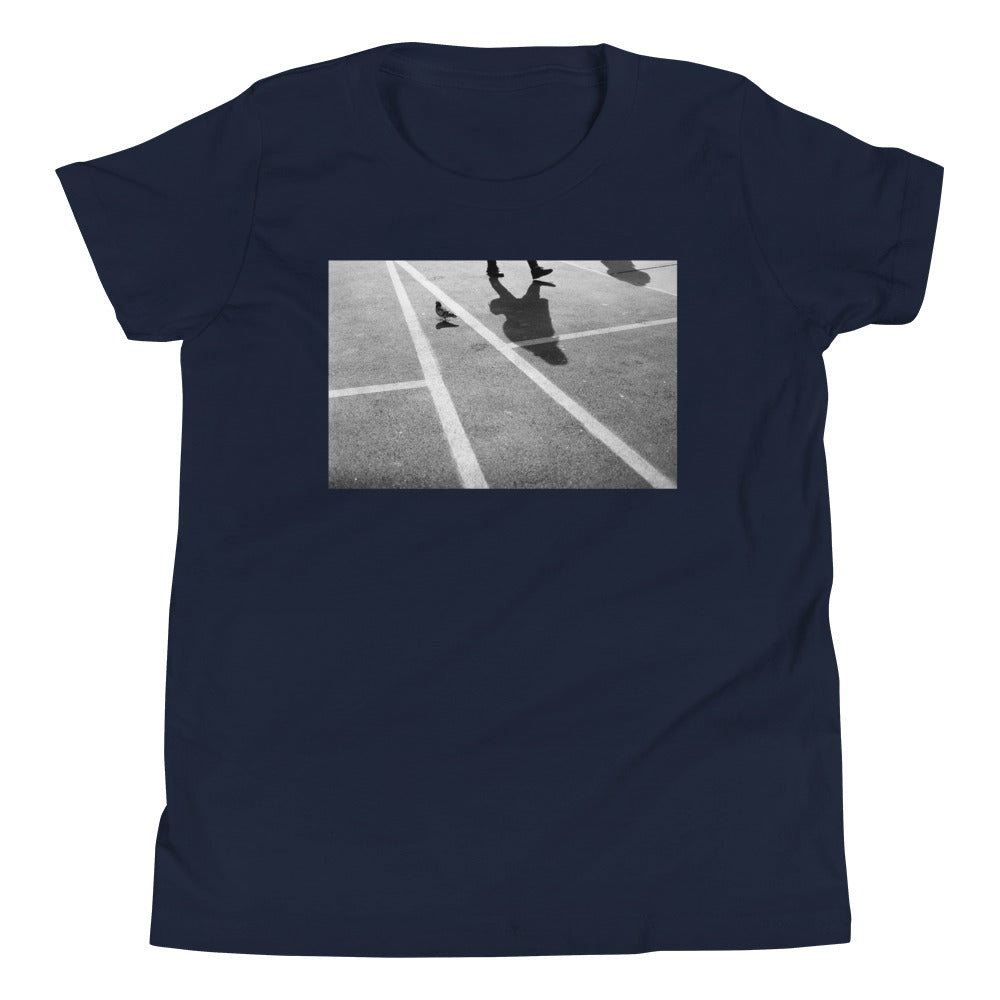 NYC SoHo Street Pigeon Crossing Kids T Shirt