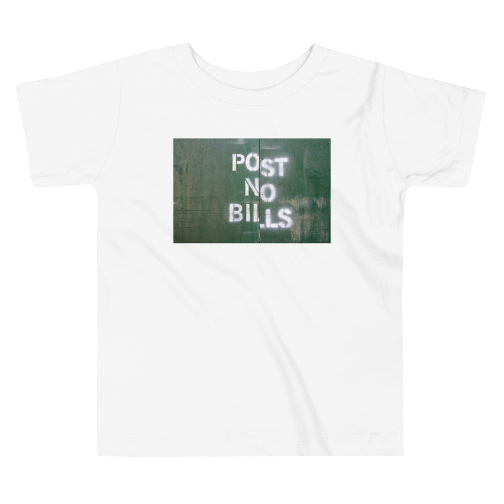 NYC Post No Bills Toddler T Shirt