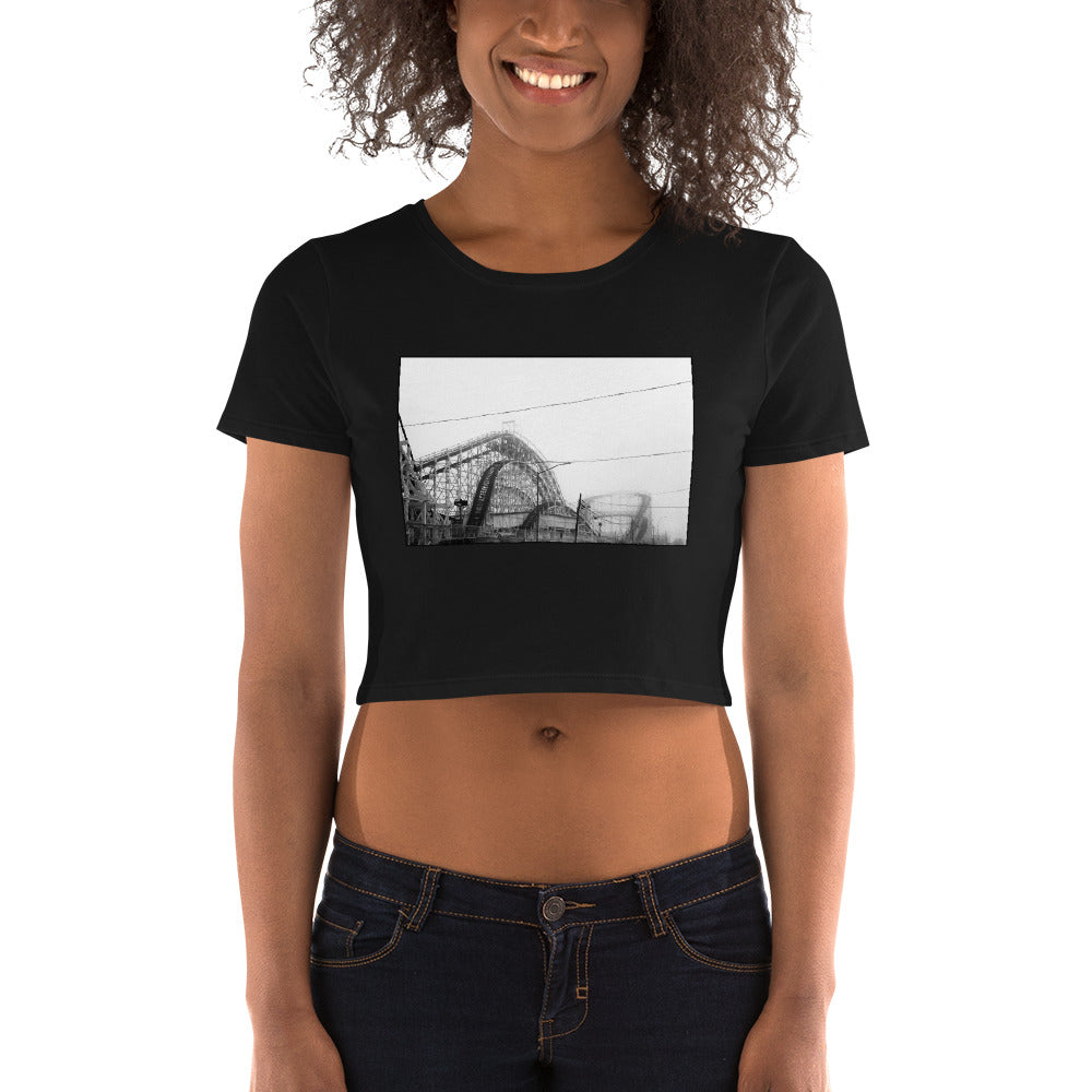 Coney Island Rollercoaster Crop T Shirt for women