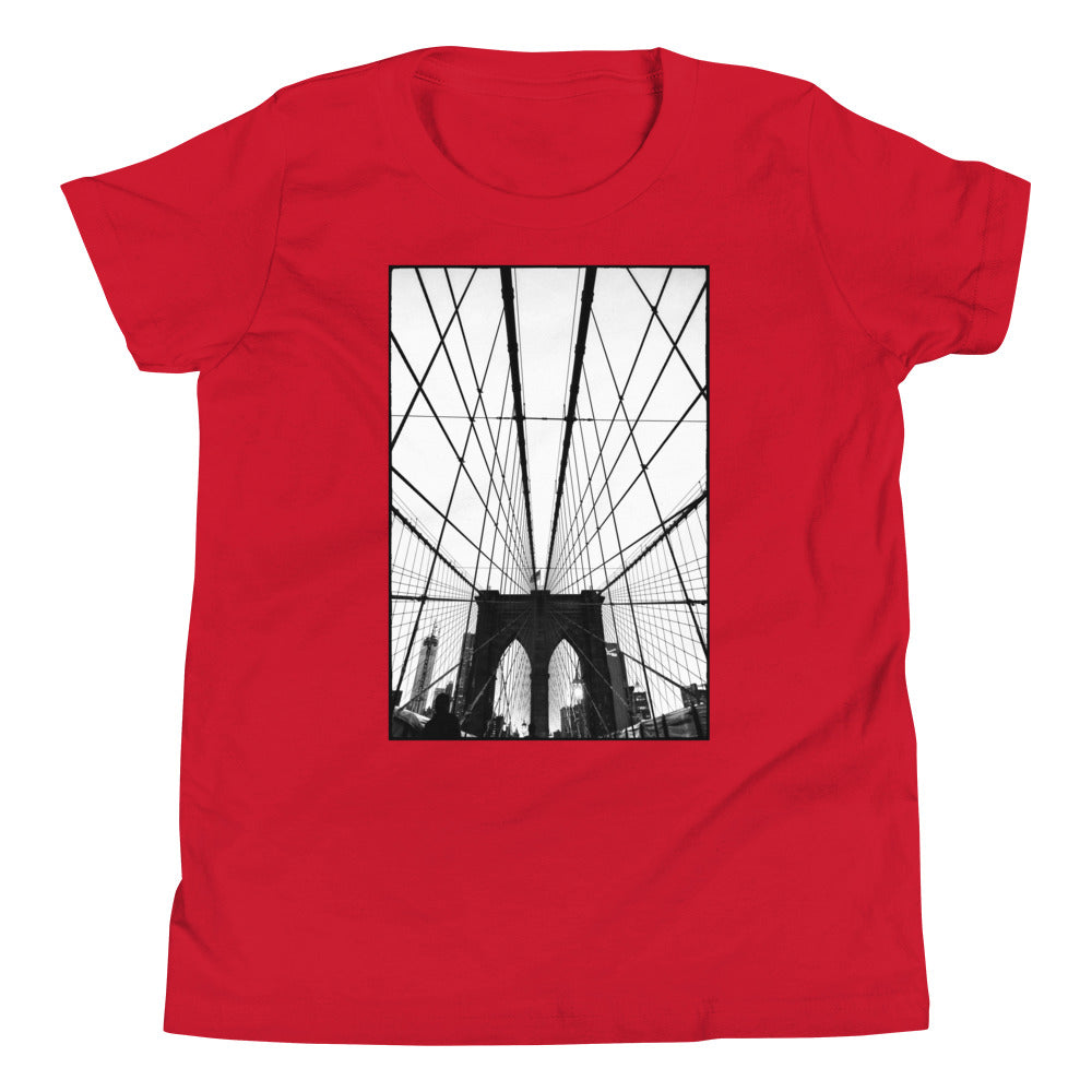 Gotham NYC Brooklyn Bridge Kids T Shirt