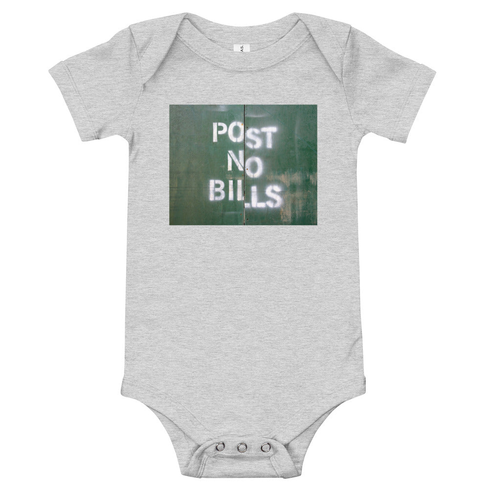 NYC Post No Bills Baby Onesie