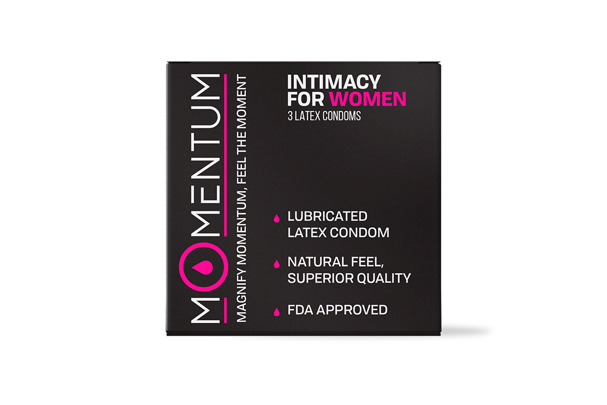 Box of 3 Momentum Condoms For HER
