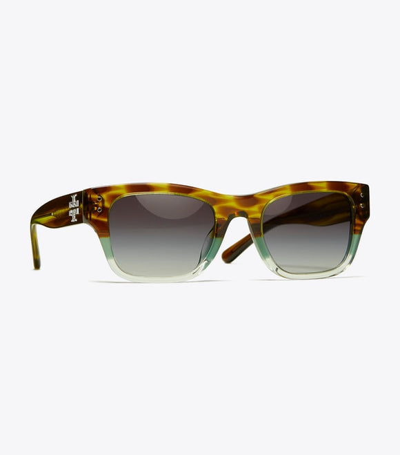 TB 7144U: Rectangular Logo Sunglasses