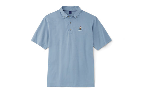 FJ 1857 Cabot Links Jacquard Button Down Collar Polo