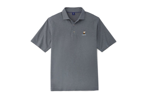 FJ 1857 Cabot Links Triangle Jacquard Spread Collar Polo