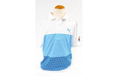 Puma Cabot Links Junior Boys Road Map Polo Blue