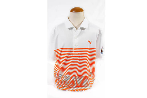 Puma Cabot Links Junior Boys Road Map Polo Orange