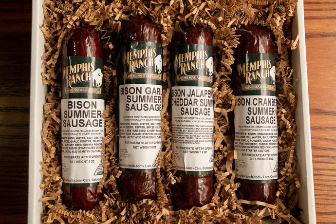 Bison Summer Sausage Gift Box