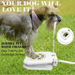 Automatic Dog Water Fountain Step On Toy