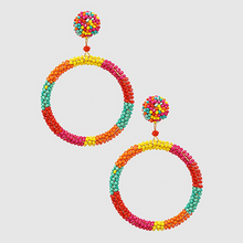Load image into Gallery viewer, Beaded Circle Earrings