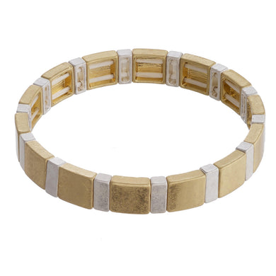 Highlands Color Block Gold Bracelet