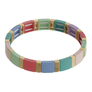 Highlands Color Block Coral Bracelet