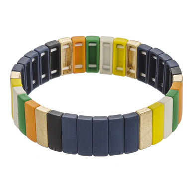Highlands Color Block  Bracelet Navy