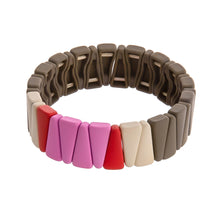 Load image into Gallery viewer, Highlands Color Block Triangle Bracelet Gray