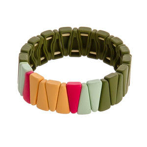 Highlands Color Block Triangle Bracelet Green