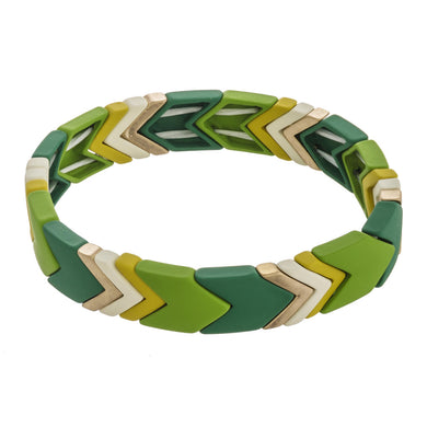 Highlands Color Block Chevron Bracelet Leaf