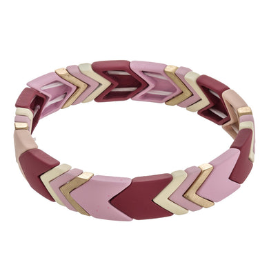 Highlands Color Block Chevron Bracelet Rose
