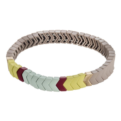 Highlands Color Block Chevron Bracelet Mint