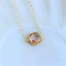 Load image into Gallery viewer, Dainty Champagne Blush Necklace