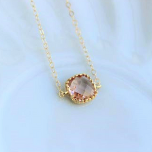 Dainty Champagne Blush Necklace