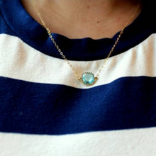 Load image into Gallery viewer, Dainty Pink Opal Necklace