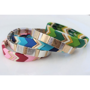 Highlands Color Block Silver Bracelet