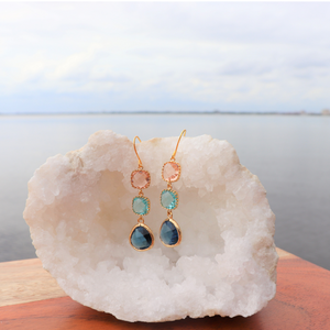 Kelly Teardrop Earrings Coral Sky Exclusive