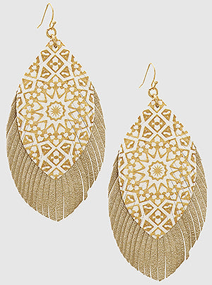 Two Tone Leather Earrings