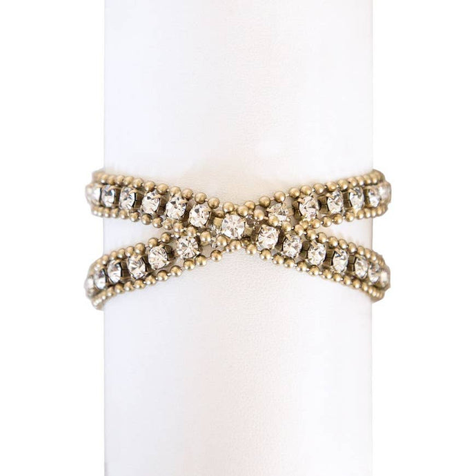 Gold Glenn Double Wrap Bracelet-Gold