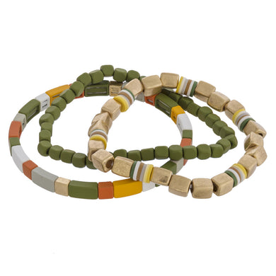 Highlands Color Block Bracelet Olive