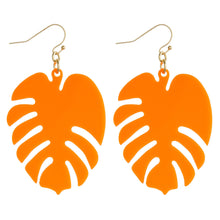 Load image into Gallery viewer, Bright Palm Leaf Earrings