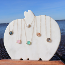 Load image into Gallery viewer, Dainty White Opal Necklace