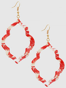 Quatrafoil Hoop Earrings