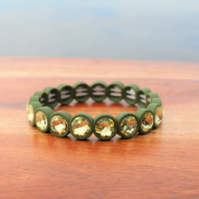 Load image into Gallery viewer, Olive Rhinestone Bracelet