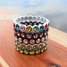 Load image into Gallery viewer, Maroon Rhinestone Bracelet
