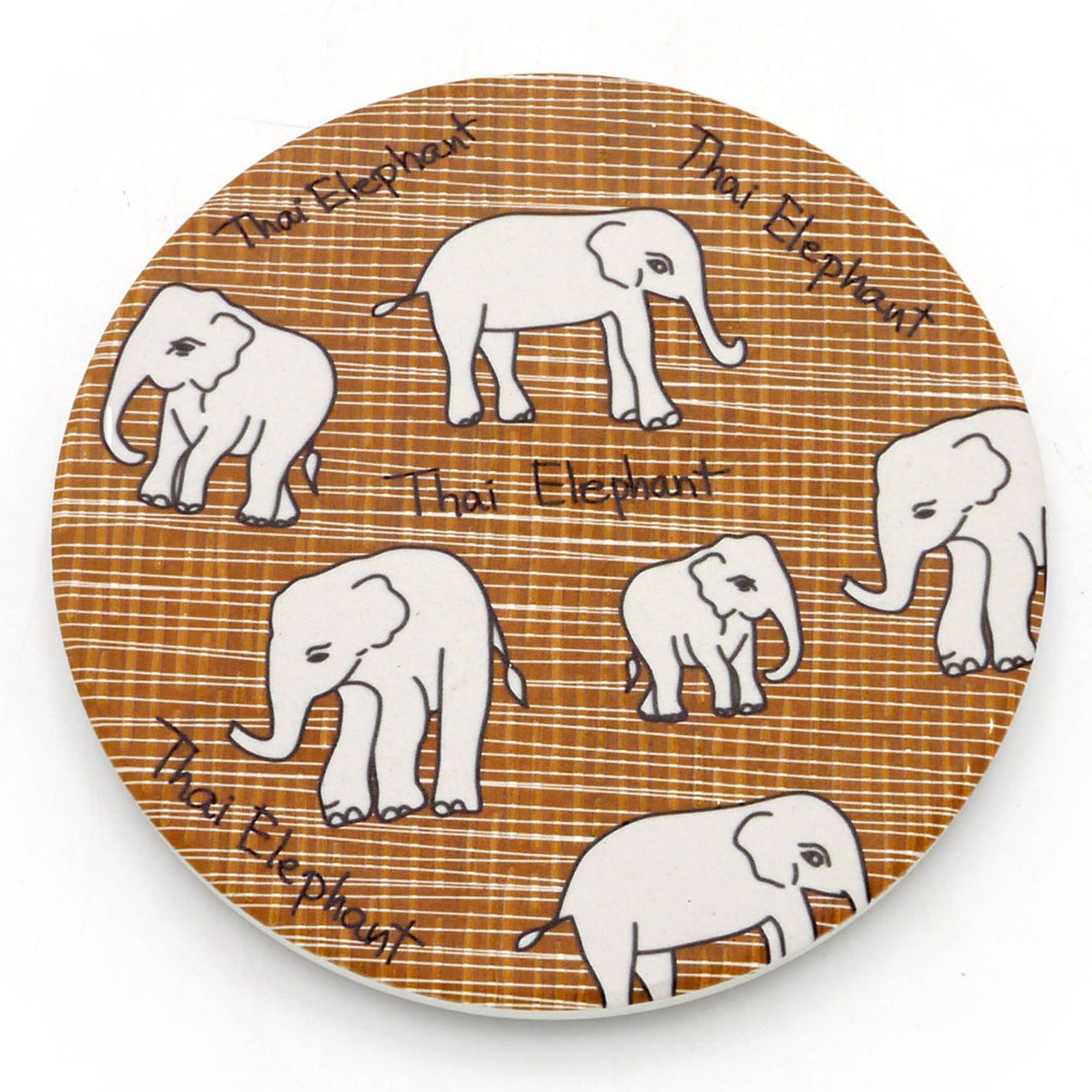 Absorbent Coaster-Thai Elephant2
