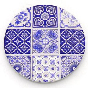 Absorbent Coaster-Blue&White 02