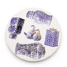 Load image into Gallery viewer, Absorbent Coaster-Blue&White 04