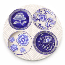 Load image into Gallery viewer, Absorbent Coaster-Blue&White 01