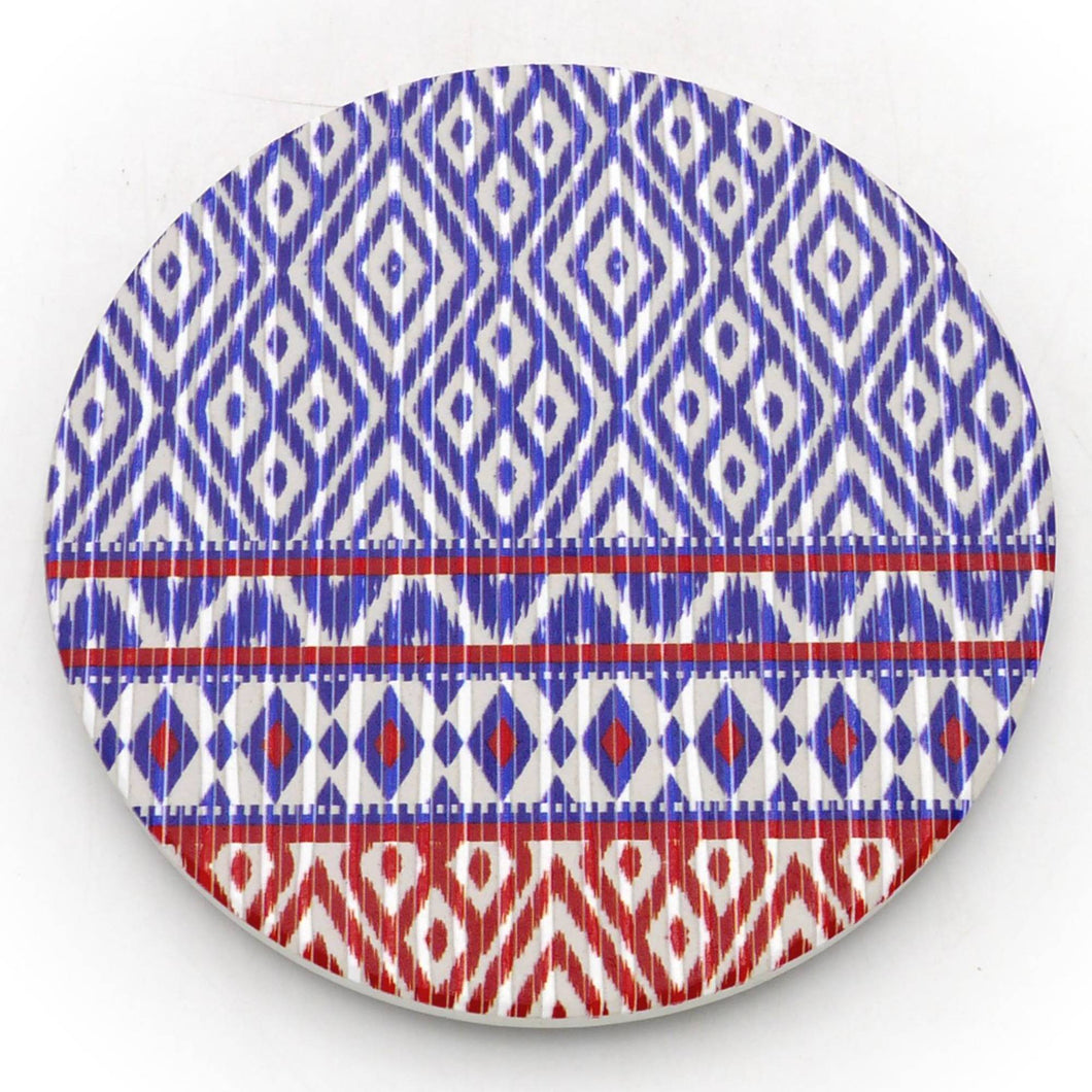 Absorbent Coaster-Thai Textile01