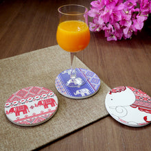 Load image into Gallery viewer, Absorbent Coaster-Ele Textile 2