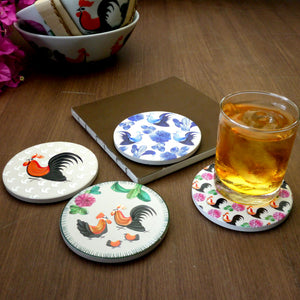 Absorbent Coaster-Blue Chic