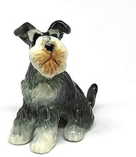 Load image into Gallery viewer, Collectible Ceramic Schnauzer Dog Figurine Animals Sitting Hand Painted Porcelain Friendship Memorial Gift