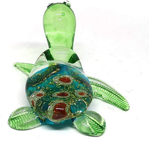 Sea Turtle Hand Blown Glass Figurine Collectible Aquarium Miniature Home Garden Decor Personalized Gift