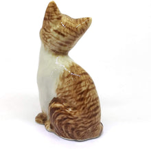 Load image into Gallery viewer, Collectible Ceramic Orange Tabby Cat Figurine Dollhouse Miniatures Gift for Cat Lovers