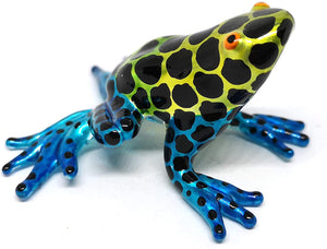 Frog Decor Figurines Blown Glass Animals Poison Dart Hand Painted Art Miniature Garden Decoration Statues Collectibles