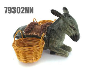 Sitting Donkey with Basket